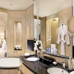 Luxury Dubai Holiday Packages Conrad Dubai King Deluxe Corner Room Panoramic View2