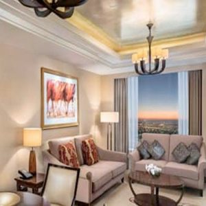 Luxury Dubai Holiday Packages Conrad Dubai King Deluxe Suite Lounge Access1