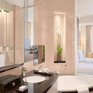 Luxury Dubai Holiday Packages Conrad Dubai Two Double Bed Deluxe Room Skyline View1