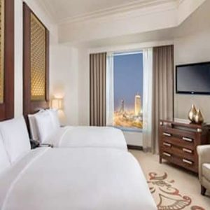 Luxury Dubai Holiday Packages Conrad Dubai Two Double Bed Deluxe Suite Lounge Access