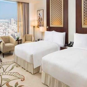 Luxury Dubai Holiday Packages Conrad Dubai Two Double Bed Executive Room Lounge Access