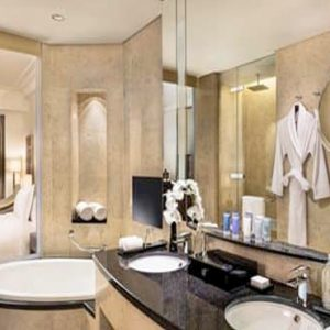 Luxury Dubai Holiday Packages Conrad Dubai Two Double Bed Executive Room Lounge Access1