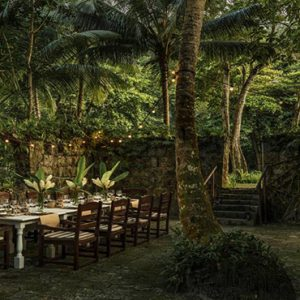 Four Seasons Resort Seychelles Luxury Seychelles holiday Packages Outdoor Dining