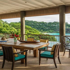 Four Seasons Resort Seychelles Luxury Seychelles holiday Packages Villa Dining Area
