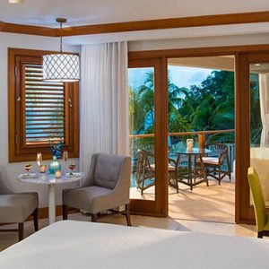Beach Weddings Abroad Sandals Negril Caribbean Beachfront Grande Luxe Club Level Room W Balcony Tranquility Soaking Tub