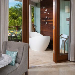 Beach Weddings Abroad Sandals Negril Caribbean Beachfront Grande Luxe Club Level Room W Balcony Tranquility Soaking Tub 2
