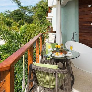 Beach Weddings Abroad Sandals Negril Caribbean Beachfront Grande Luxe Club Level Room W Balcony Tranquility Soaking Tub 3