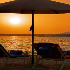 Luxury Dubai Holiday Packages Aloft Palm Jumeirah Dubai Sunset