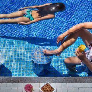 Luxury Langkawi Holiday Packages Meritus Pelangi Beach Resort & Spa Cascade Pool Bar