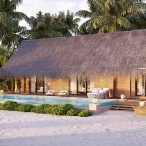 Maldives Honeymoon Packages Waldorf Astoria Maldives Ithaafushi Two Queen Beeded Grand Beach Villa With Pool