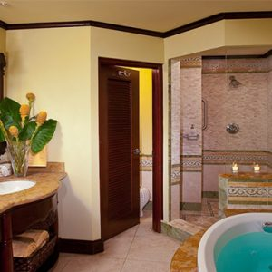 Sandals Negril Jamaica Honeymoon Crystal Lagoon Honeymoon Beachfront Penthouse One Bedroom Butler Suite Bathsuite