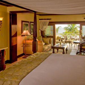 Sandals Negril Jamaica Honeymoon Crystal Lagoon Honeymoon Beachfront Penthouse One Bedroom Butler Suite Bedroom