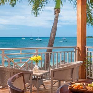 Sandra Negril Jamaica Honeymoon Paradise Honeymoon Beachfront Grande Luxe Club Level Room Balcony