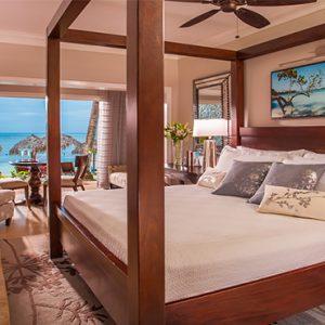 Sandra Negril Jamaica Honeymoon Paradise Honeymoon Beachfront Walkout Club Level Room Bedroom