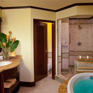 Sandra Negril Jamaica Honeymoon Swim Up Crystal Lagoon Beachfront One Bedroom Butler Suite Bathsuite