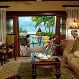 Sandra Negril Jamaica Honeymoon Swim Up Crystal Lagoon Beachfront One Bedroom Butler Suite Lounge