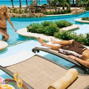 Sandra Negril Jamaica Honeymoon Swim Up Crystal Lagoon Beachfront One Bedroom Butler Suite Pool