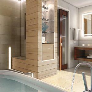 Sandra Negril Jamaica Honeymoon Caribbean Beachfront Walkout Grande Luxe Clb Level Room W Tranquility Soaking Tub Bathroom