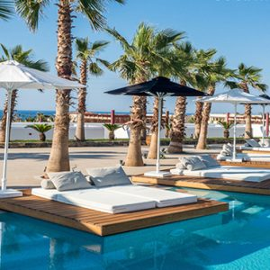 Luxury Greece Holiday Packages Stella Island Crete Cabana Pool Bar