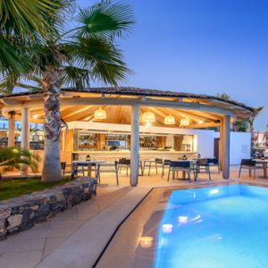 Luxury Greece Holiday Packages Stella Island Crete Cabana Pool Bar3