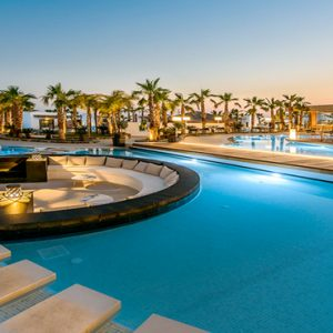 Luxury Greece Holiday Packages Stella Island Crete Pool At Night