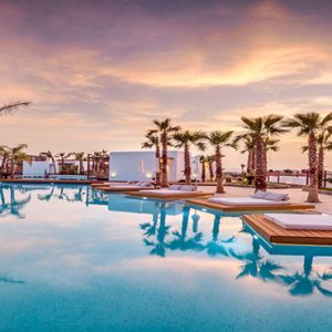 Luxury Greece Holiday Packages Stella Island Crete Pool At Sunset