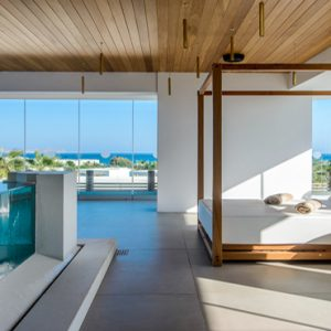 Luxury Greece Holiday Packages Stella Island Crete Spa Relaxing Room By Pool