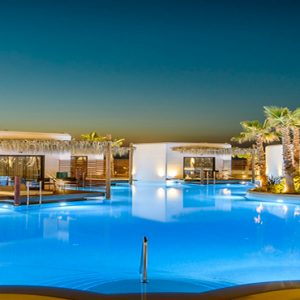 Luxury Greece Holiday Packages Stella Island Crete Villa Pool At Night