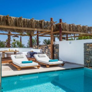 Luxury Greece Holiday Packages Stella Island Crete Relaxing Area By Villa Pool