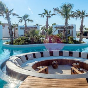 Luxury Greece Holiday Packages Stella Island Crete Seating Are In Pool