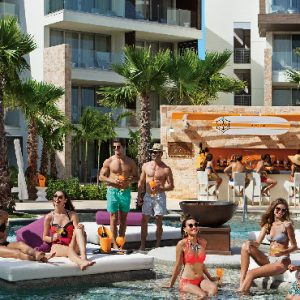 Luxury Mexico Holidays Packages Breathless Riviera Cancun Resort & Spa Fizz Iced Champagne Bar