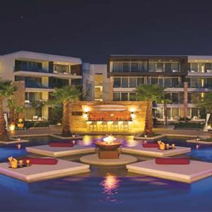 Luxury Mexico Holiday Packages Breathless Riviera Cancun Resort And Spa Exterior At Night