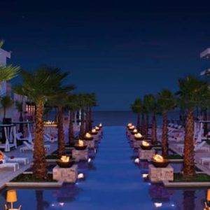 Luxury Mexico Holiday Packages Breathless Riviera Cancun Resort And Spa Pool At Night