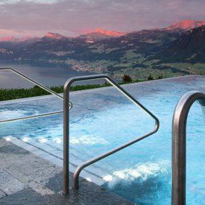 Luxury Switzerland Holiday Packages Hotel Villa Honegg Infinity Pool
