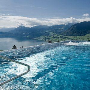 Luxury Switzerland Holiday Packages Hotel Villa Honegg Infinity Pool2
