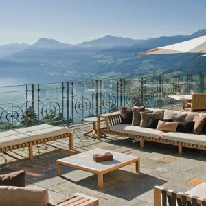 Luxury Switzerland Holiday Packages Hotel Villa Honegg The Terrace Lounge