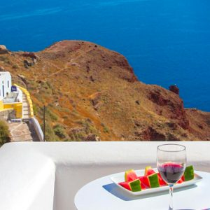 Luxury Greece Holiday Packages Oia Mare Villas Cave Standard Studio Balcony