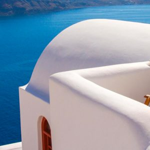 Luxury Greece Holiday Packages Oia Mare Villas Cave Standard Studio Balcony 3