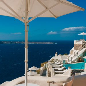Luxury Greece Holiday Packages Oia Mare Villas Cave Suite Balcony View