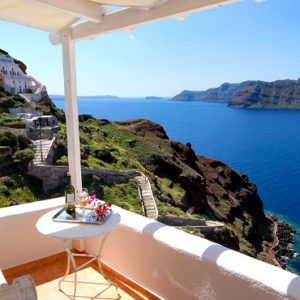 Luxury Greece Holiday Packages Oia Mare Villas Cave Superior Studio Balcony