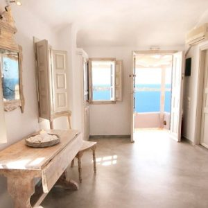 Luxury Greece Holiday Packages Oia Mare Villas Cave Superior Studio Kitchen