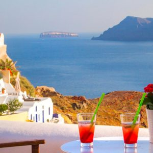 Luxury Greece Holiday Packages Oia Mare Villas Cave Superior Studio With Hot Tub Balcony