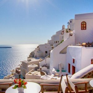 Luxury Greece Holiday Packages Oia Mare Villas Dining View