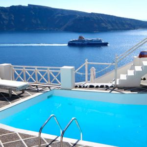 Luxury Greece Holiday Packages Oia Mare Villas Gallery Poolside View 2