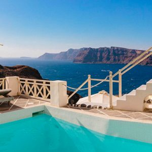 Luxury Greece Holiday Packages Oia Mare Villas Gallery Poolside View