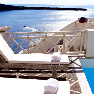 Luxury Greece Holiday Packages Oia Mare Villas Gallery Sun Bed