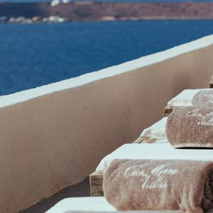 Luxury Greece Holiday Packages Oia Mare Villas Gallery Sun Bed 2