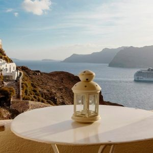 Luxury Greece Holiday Packages Oia Mare Villas Honeymoon Cave Suite Balcony