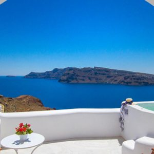 Luxury Greece Holiday Packages Oia Mare Villas Honeymoon Cave Suite With Hot Tub 6