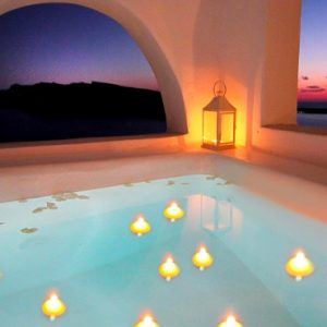 Luxury Greece Holiday Packages Oia Mare Villas Honeymoon Cave Suite With Hot Tub Hot Tub 2